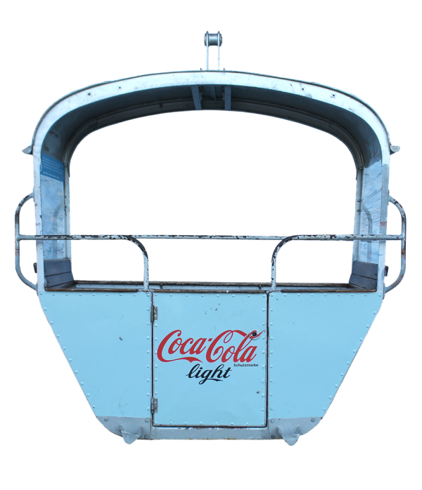 "CocaCola 600x698 - 2er Gondelkabine 1956 ""Coca-Cola"""