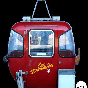 """Diablerets 300x300 - 4er Gondelkabine 1974 """"Les Diablerets"""""""