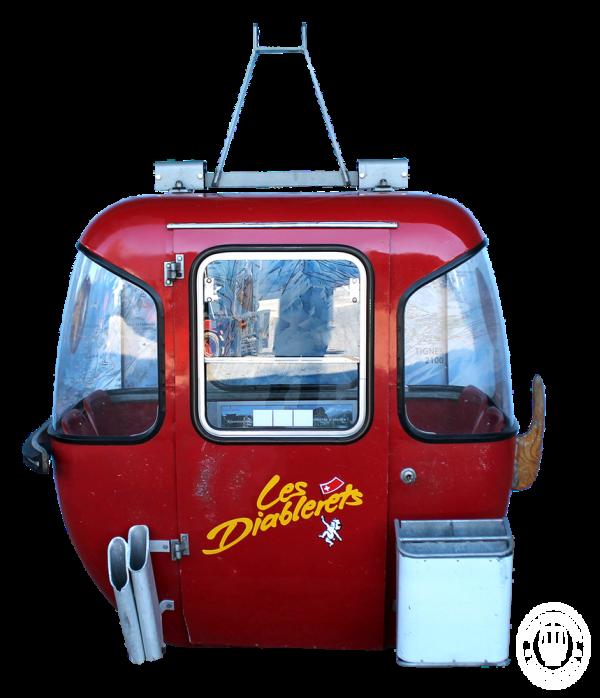 """Diablerets 600x698 - 4er Gondelkabine 1974 """"Les Diablerets"""""""