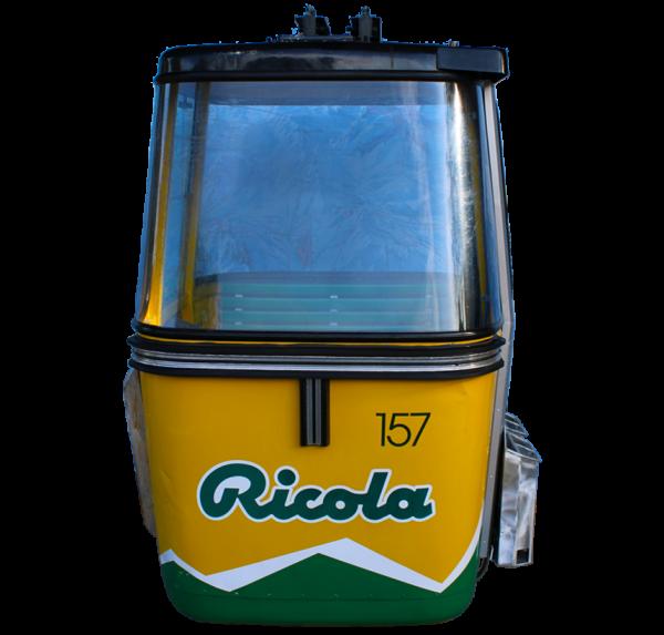 """Ricola freigestellt Web final 600x573 - 4er Gondelkabine 1978 """"Ricola"""""""